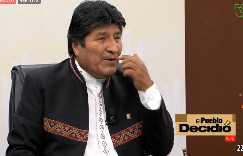 Morales en el canal de contenidos oficialistas / CAPTURA BTV