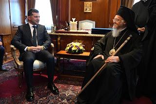 """Ο Ουκρανός πρόεδρος """"πάγωσε"""" τον Βαρθολομαίο"""