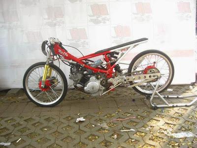 Foto Modifikasi Motor Drag Jupiter MX