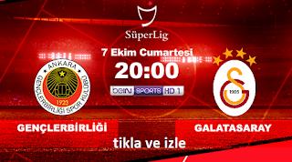 Genclerbirlig Galatasaray macini izle