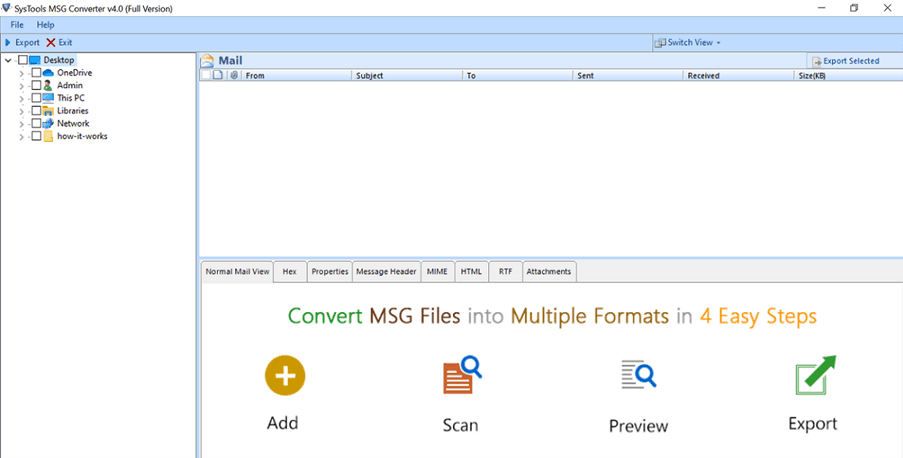 Sys Tools Message Converter Step 1