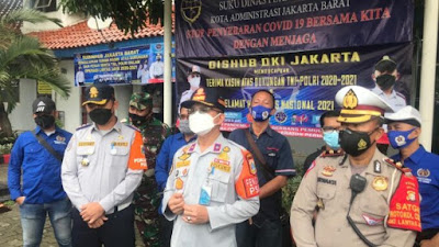 Kadishub Beri Apresiasi Operasi Lintas Jaya Dishub Jakarta Barat Dalam Menerapkan Protkes.
