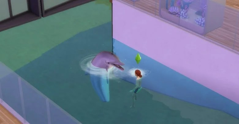 How to call a dolphin in The Sims 4: Island Living