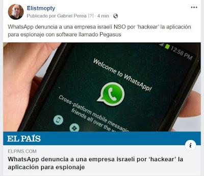 WhatsApp denuncia a una empresa israelí NSO por 'hackear' la aplicación para espionaje con software llamado Pegasus