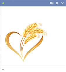 Heart with wheat