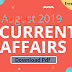 August 2019 Important Current Affairs