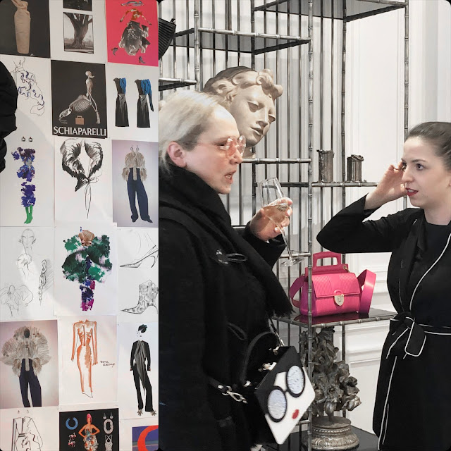 Eleonora de Gray at presentation of Schiaparelli Fall-Winter 2020-2021 Paris by RUNWAY MAGAZINE