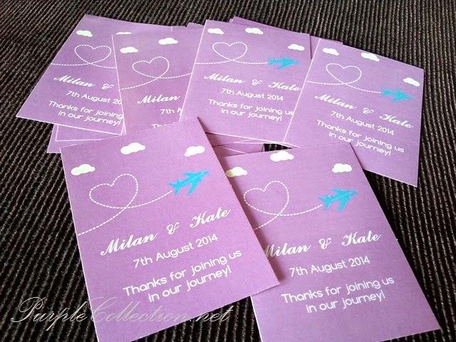 sticker, purple colour, 2014, year, printing, cetak, malaysia, KL, kuala lumpur, selangor, johor bahru, singapore, penang, perak, ipoh, kuantan, pahang, online, purchase, buy, sell, portfolio, purple cards, invitation, label, wedding, door gift, favor, aeroplane, heart shape, flying, clouds, metal tin, luggage bag, idea