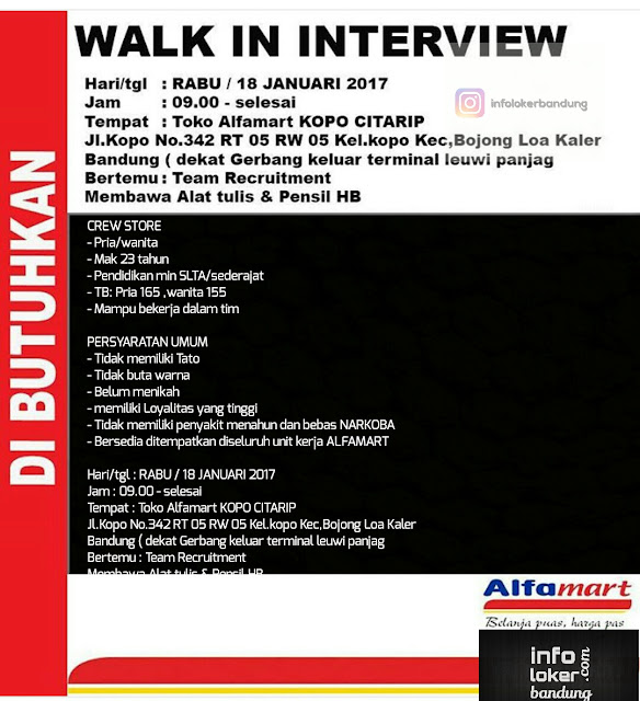 Lowongan Kerja Alfamart Bandung