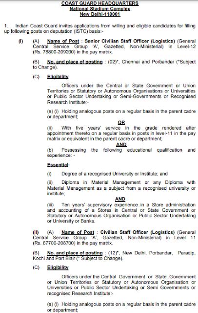 ICG UDC Recruitment 2021 Apply Offline