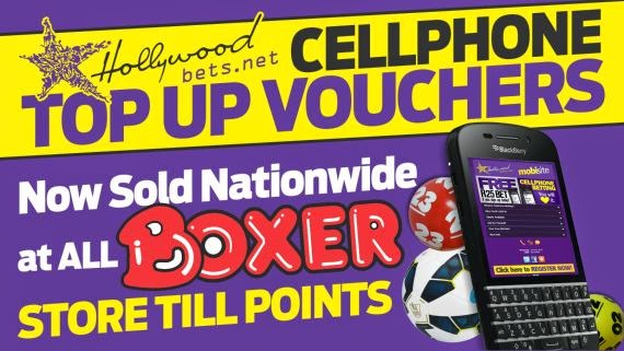 Hollywoodbets Top Up Vouchers at all Boxer Stores - TUVs