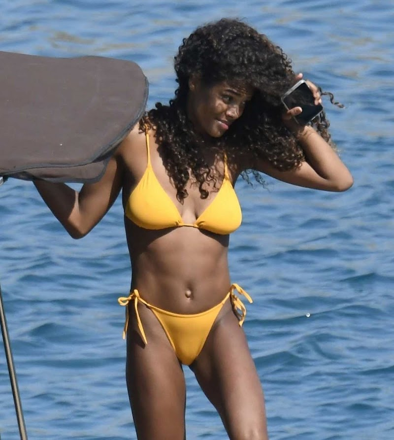 Tina Kunakey Snapped in Bikinis on Holiday in Greece 6 Aug -2020