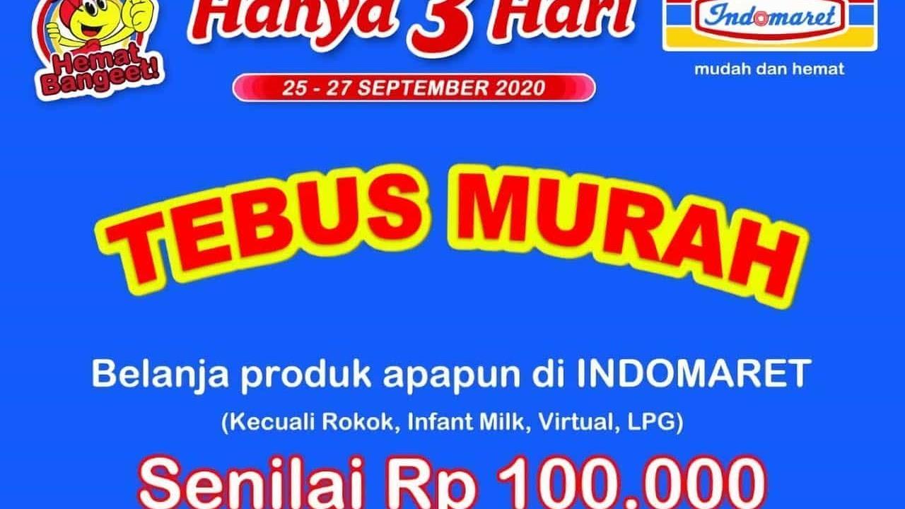 Katalog Jsm Indomaret Tebus Murah Periode 25 27 September 2020 Scanharga