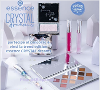 Logo Essence Concorso beauty : vinci gratis una trend edition Essence CRYSTAL dreams