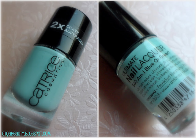 Paznokcie :: Catrice 540 Am I Blue or Green & Essence 71 Wanna Kiss