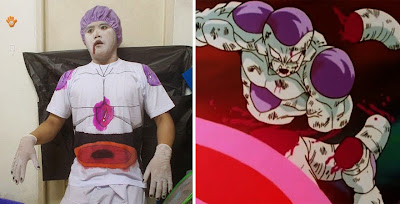 Disfraz de el gran freezer de Dragon Ball cosplay