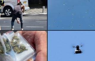 Video Detik-detik Langit Kota Tel Aviv Israel Dihujani Banyak Bungkusan Ganja