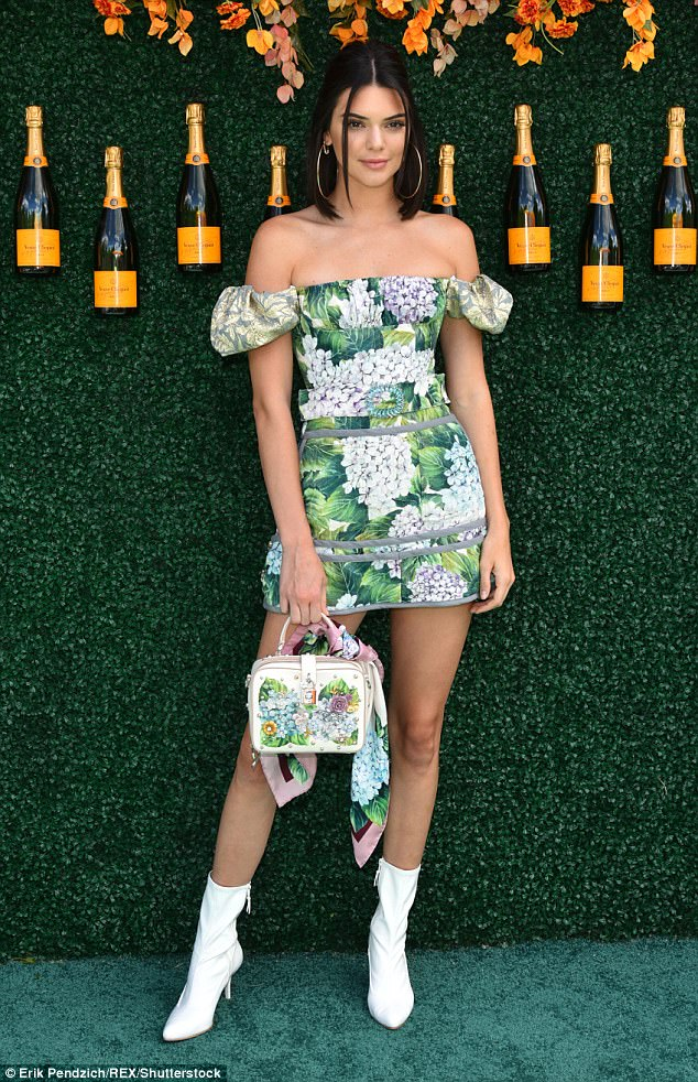 Kendall Jenner is chic in off-shoulder mini dress at the Veuve Clicquot Polo Classic