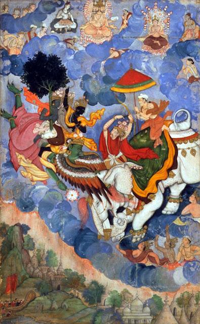 War between Garuda and Airavata