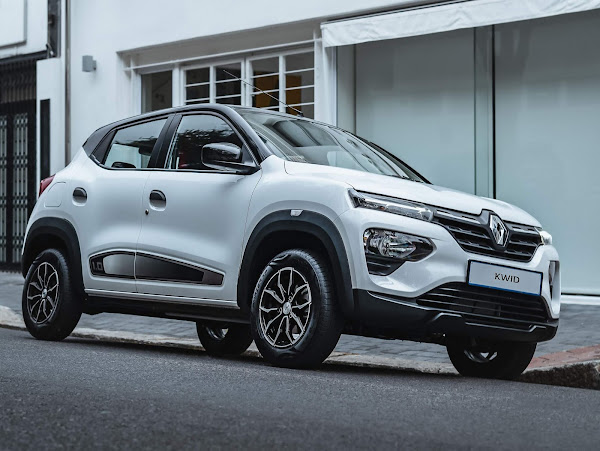 Novo Renault Kwid 2022 - perfil de 3/4 lateral