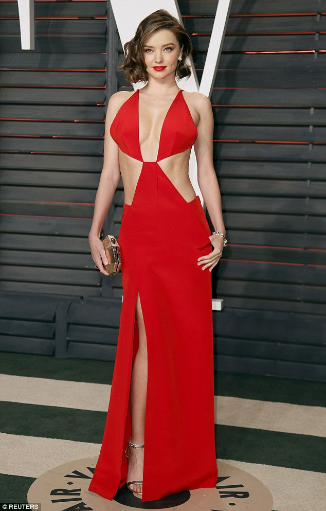 Miranda Kerr seduces at the Vanity Fair Oscars Party