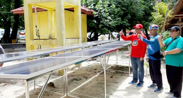 Dipasangi Lampu Warna-Warni Bertenaga Surya, Pulau Angso Duo Kian Tacelak