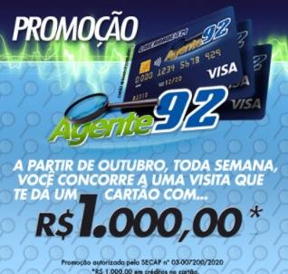 Cadastrar Promoção Agente 92 Liberdade FM Cartão 1 Mil Reais