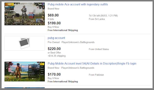 pubg account on ebay