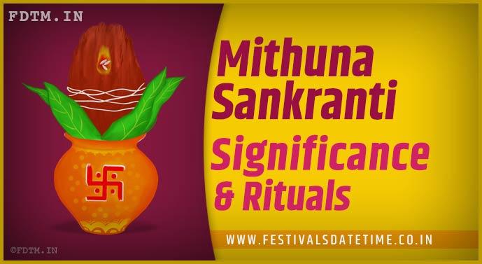 Mithuna Sankranti: Know the Significance and Rituals of Mithuna sankranti