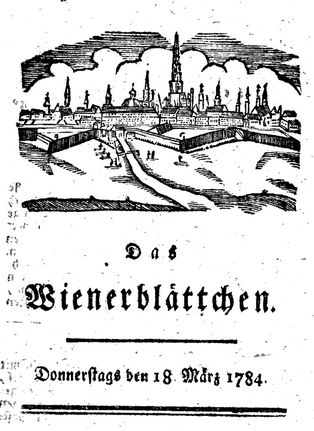 Das Wienerblättchen mars 1784