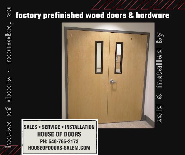 Commercial wood door supplied and installed by House of Doors - Roanoke, VA