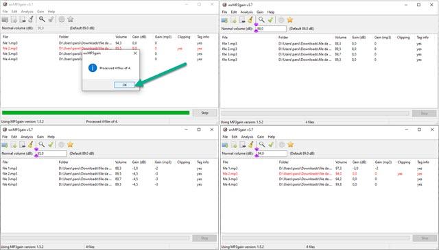 normalizzare i volumi dei file mp3