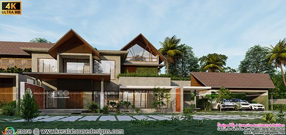 Close up look of Tropical house