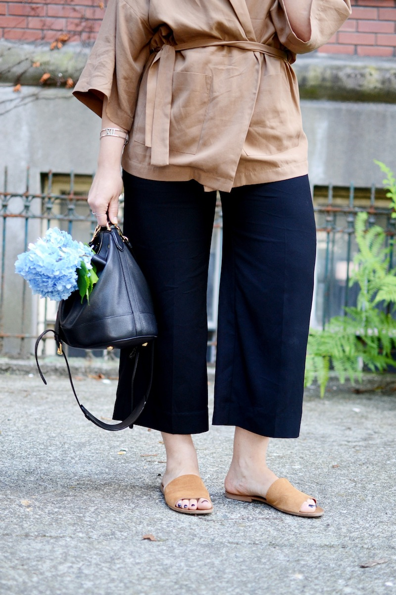 Le Chateau made in Canada culottes and kimono work appropriate summer outfit Vancouver fashion blogger Aleesha Harris