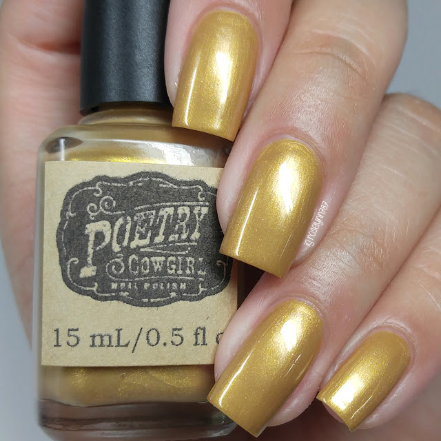 Poetry Cowgirl Nail Polish - Gold Trinkets