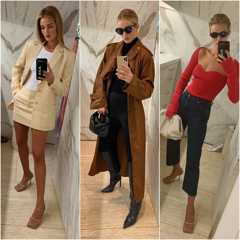 Rosie Huntington-Whiteley em 25 looks copiáveis e arrasadores