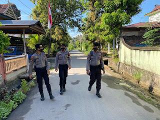 Giat Patroli Jalan Kaki Dipimpin Kanit Turjawali Satuan Sabhara Polres Enrekang