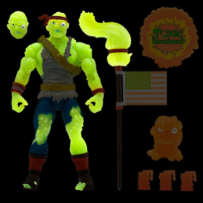 Radioactive Red Rage Toxic Crusader Ultimates Action Figure by Super7