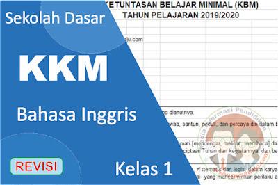 Download KKM Bahasa Inggris Kelas 1 K13 Semester 1