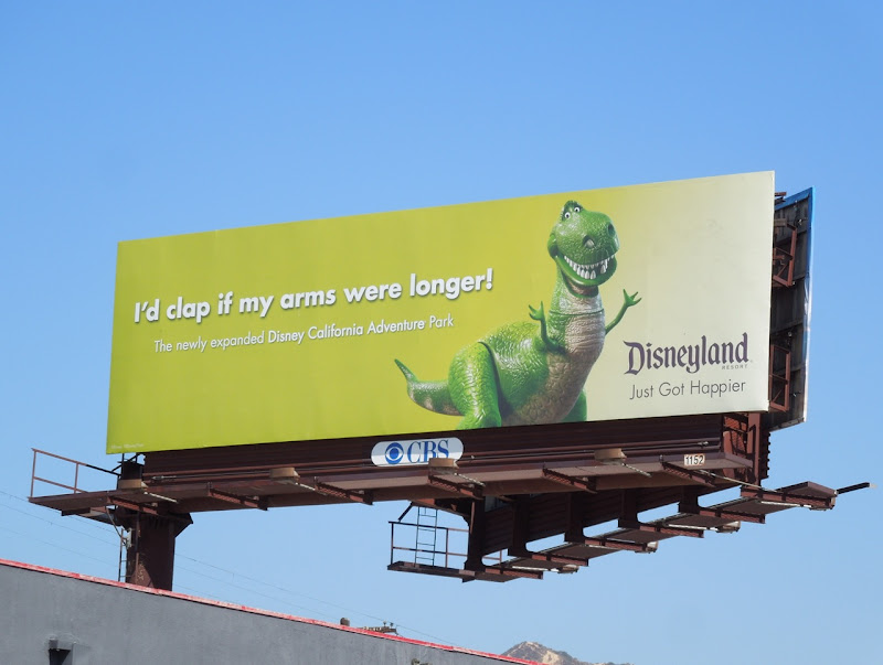 Disneyland Rex Just got happier billboard