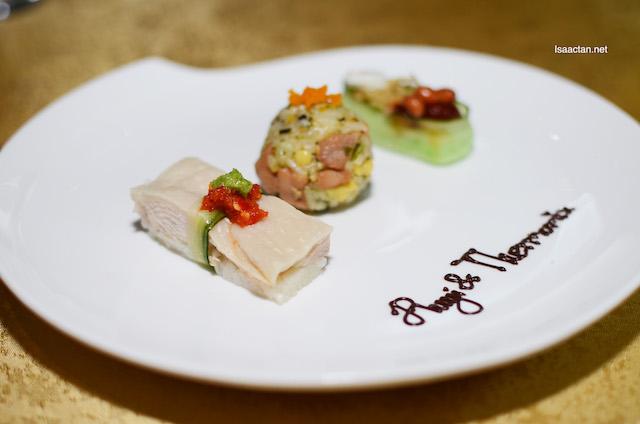 Hainanese Chicken Rice Sushi, Teriyaki Chicken Sushi and Ruyi & Lyn's popular Nasi Lemak Sushi