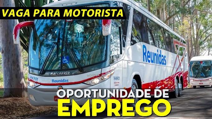 Reunidas abre vagas para motorista de ônibus rodoviário