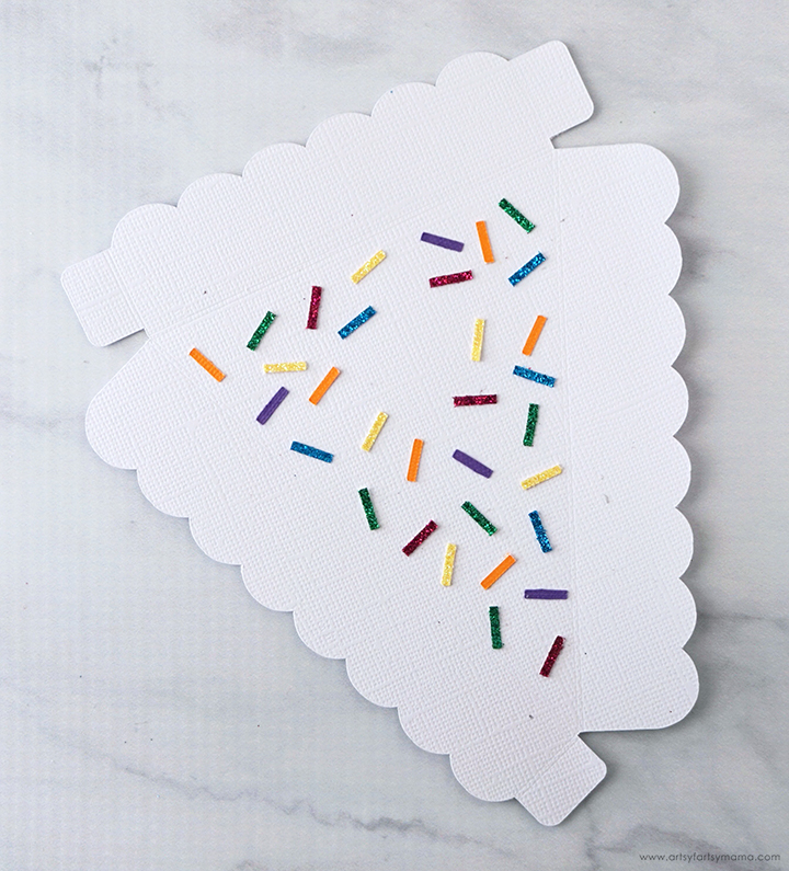 DIY Birthday Cake Box Sprinkles