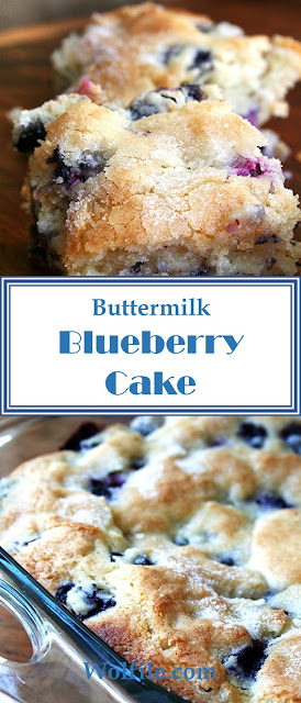 Buttermilk Blueberry Cake #Blueberry #Cake