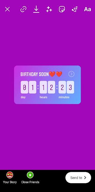 Adding birthday countdown