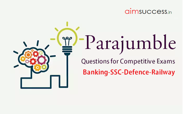 JUMBLED SENTENCE QUESTIONS FOR IBPS CLERK MAINS 2017