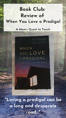 path photograph from Canva; book cover of When You Love a Prodigal