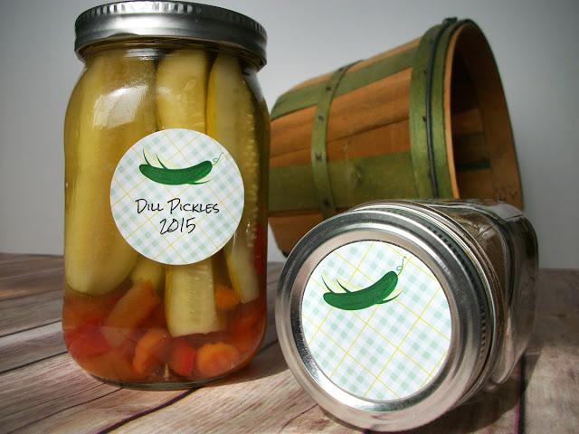 Plaid Pickle Mason Jar Labels