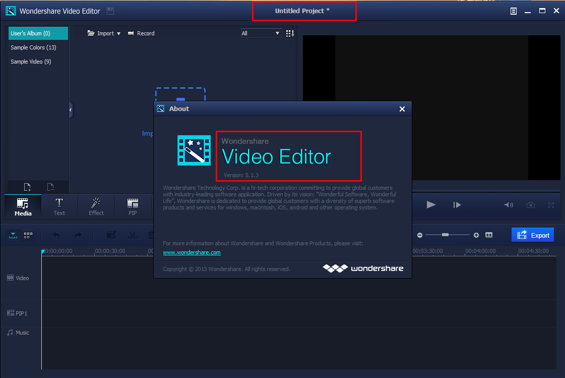 wondershare video editor code