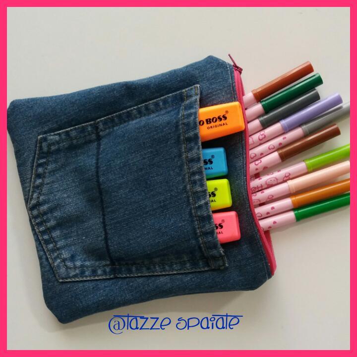 Favoloso Tazze Spaiate: Riciclo creativo: un astuccio in jeans DS87